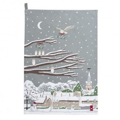 Sophie Allport 'The Night Owl' Tea Towel