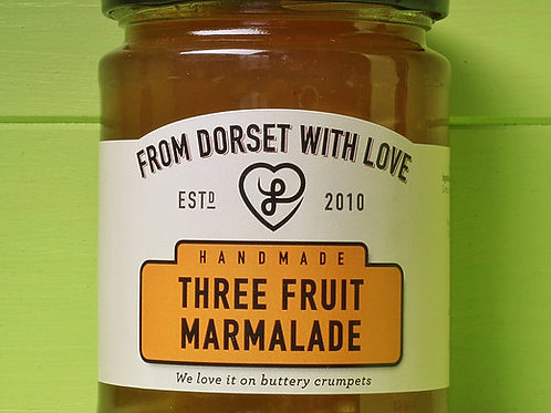 From Dorset with Love Three Fruit Marmalade 340g