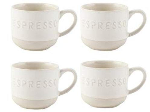 La Cafetière Origins Embossed Set of 4 Espresso Cups