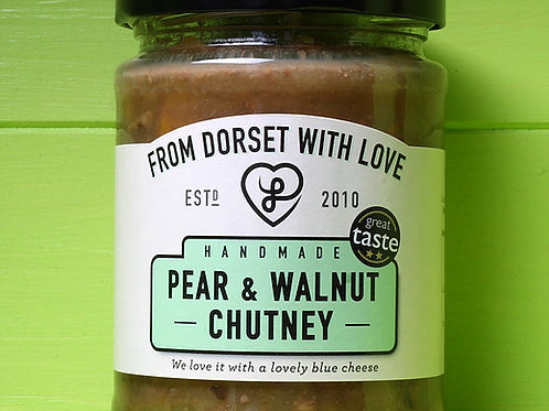 From Dorset with Love Pear and Walnut Chutney 280g