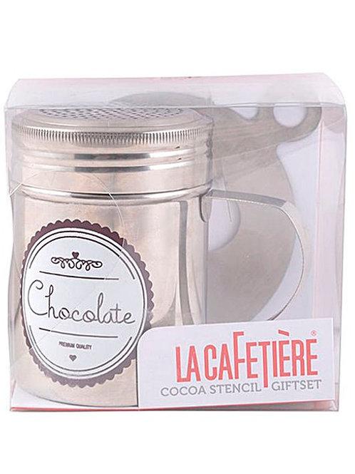 La Cafetière Cocoa Stencil Gift Set