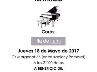 Concierto Benéfico 18 de Mayo , TEATRILLO , Margenat 66