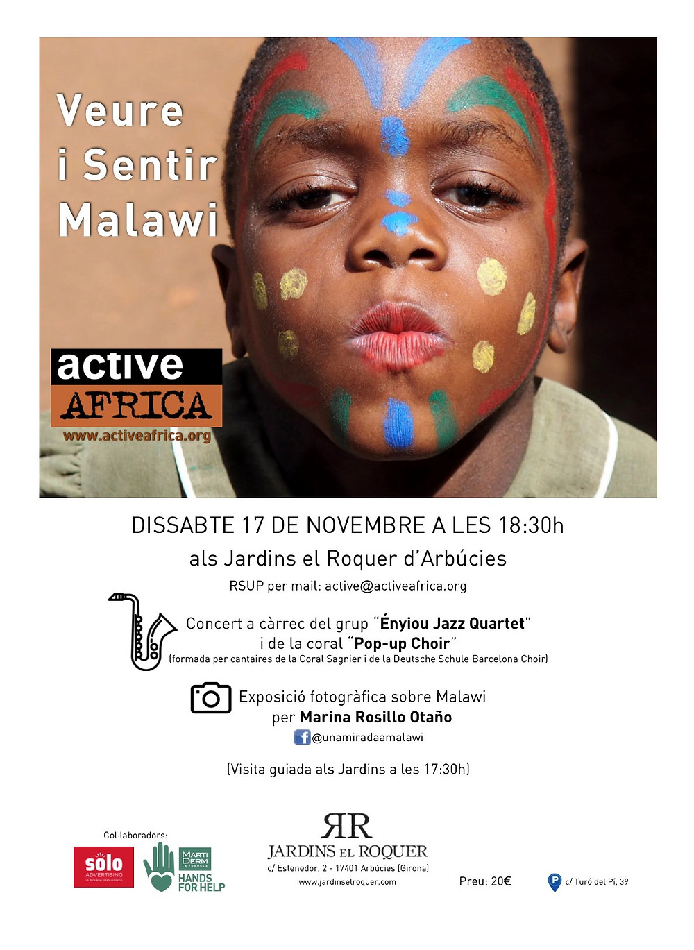 Os invitamos al Concierto que estamos organizando para este próximo sábado en Jardins el Roquer, Arbúcies.