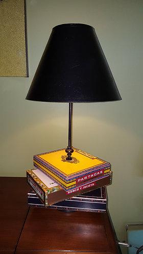 vintage furniture and decor cigar box, lamp, custom, unique