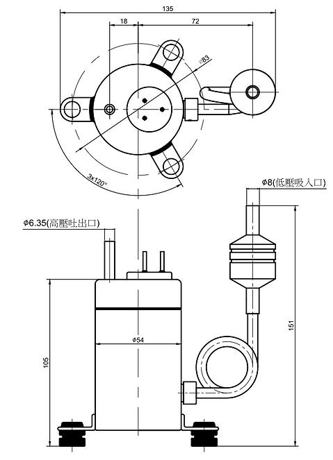 直流微型制冷壓縮機