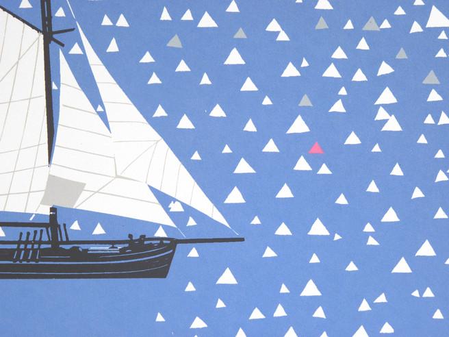 Simon Tozer Carlotta Ship Screenprint De
