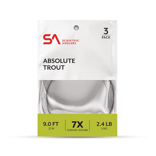 SA ABSOLUTE TROUT LEADERS - 3 PACK