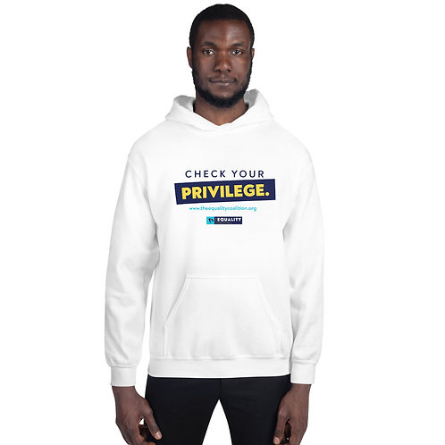 Check Your Privilege Unisex Equality Hoodie