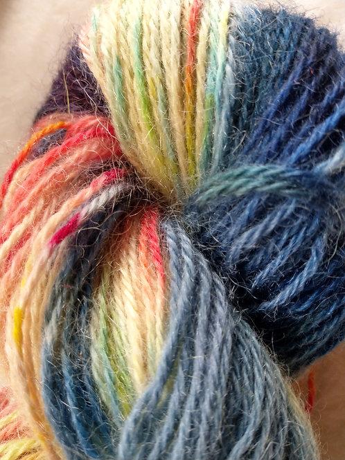 Hand painted mohair/alpaca yarn