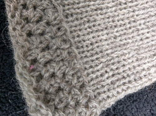 Beanie with crochet trim