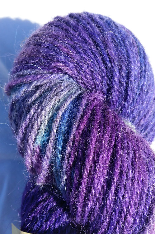 Hand dyed tweed mohair blend
