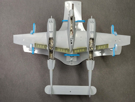 P-38G Booms & Fuselage Assembly