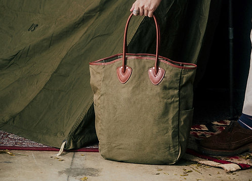 White Whale & Co. x Made In Eden Military Tote