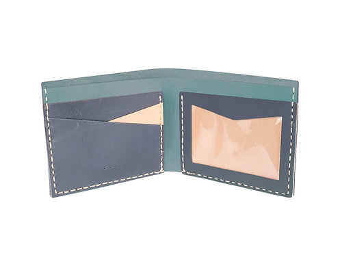 D.I.Y. Wallet with ID window - Cowhide