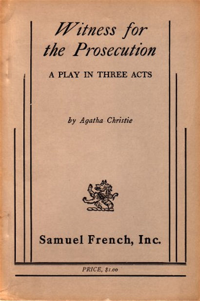 agatha christie, samuel french, three acts