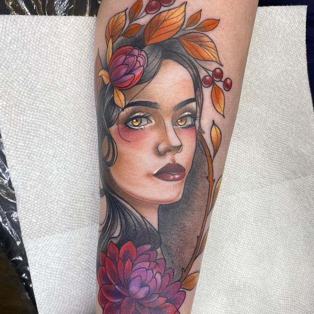 Autumn Goddess Tattoo