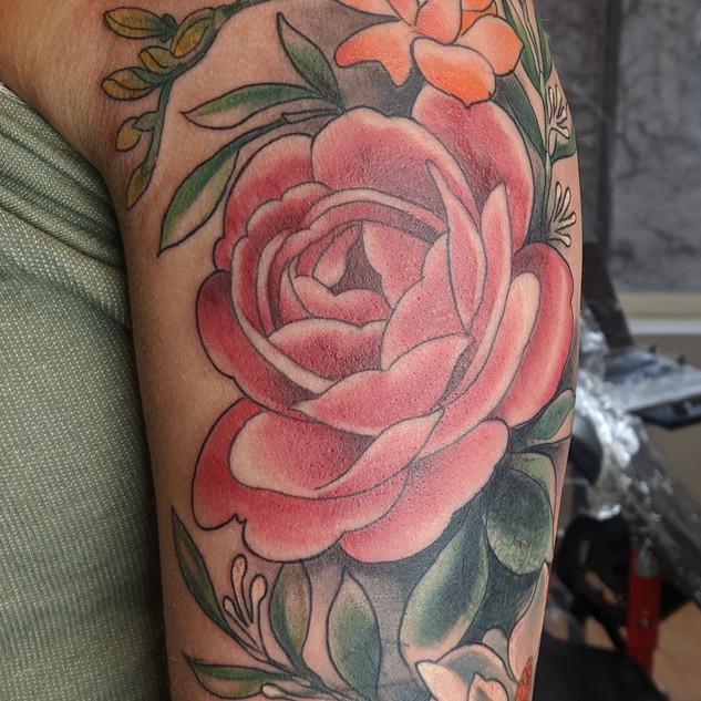 Peony Floral Tattoo
