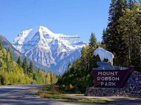 Jasper Entrance Mount Robson Provincial Park