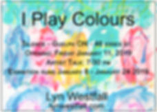 border I play colours poster black font