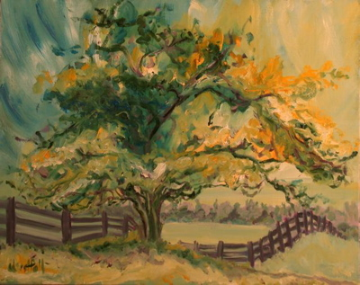 Summer Hawthorn Tree II - 2007