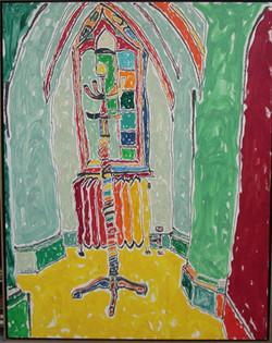 Tree Coat in an Abbey Window