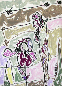 Irises by the Fence III