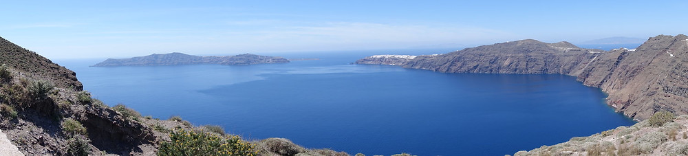 Santorini was formed by a volcano blowing the island apart during the Minoan era. covering the island in volcanic dust