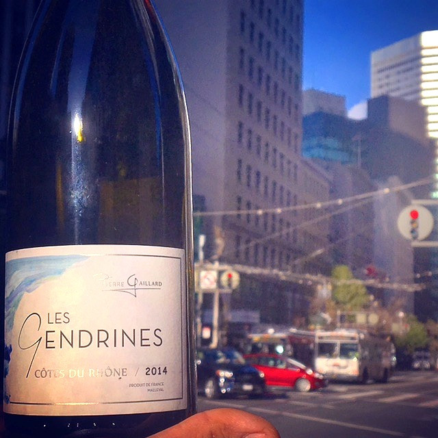 My favorite Condrieu alternative! Pierre Gaillard 'Les Gendrines' Côtes du Rhône blanc 2014. This bottling is made with grapes sources from vineyards that touch Condrieu, but are not technically within the appellation. Drinks expensive but you'd never guess from the price tag!