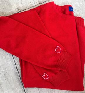 bordado personalizado manga cashmere gar