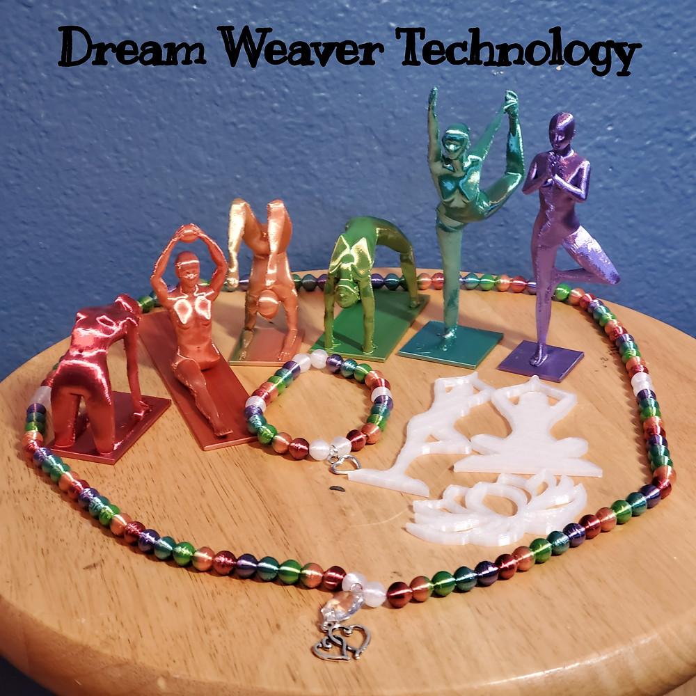 Yoga Models, Yoga Figurines, Suncatchers, Mala, Bracelet, Bead, 3d printing, Creality Ender 3 Pro