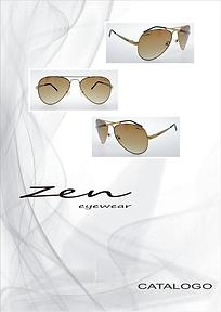Catalogo de óculos de sol linha Zen da Metalzilo