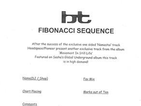BT - Fibonacci Sequence Mailout Sheet 2001