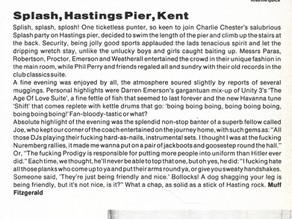 Charlie Chesters Splash hits Hastings Pier..