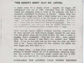 The Mighty Ming Promo Sheet
