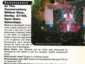 Renaissance - Dirty Thirty Mixmag Listing..