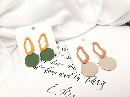 E00808 METAL EDIT EARRINGS