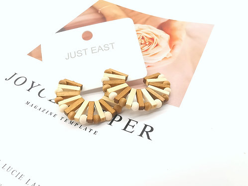 E00825 TIMBER EARRINGS