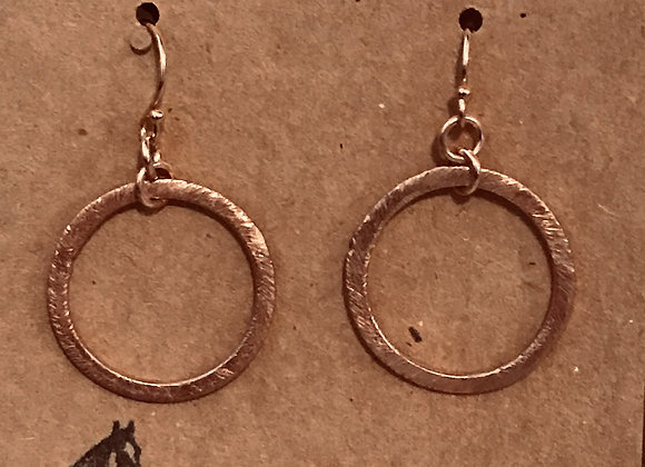 Brushed Rose Gold Earrings