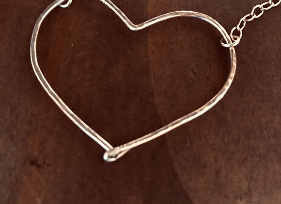 Silver Heart on Chain