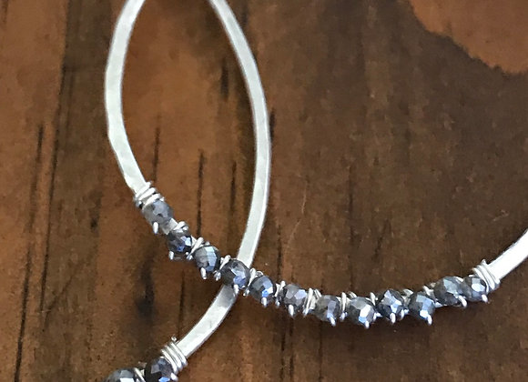 Silver Teardrops and Labradorite