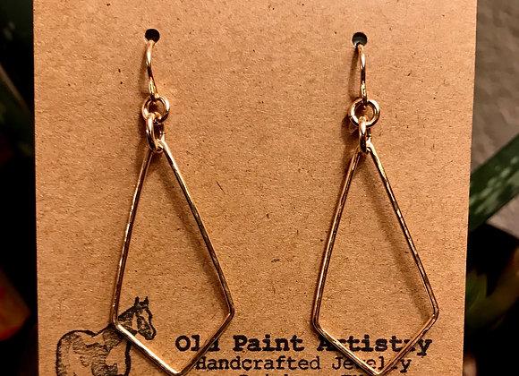 Gold Kite Earrings