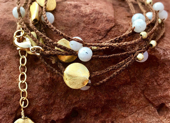 Linen, Moonstone, and Gold