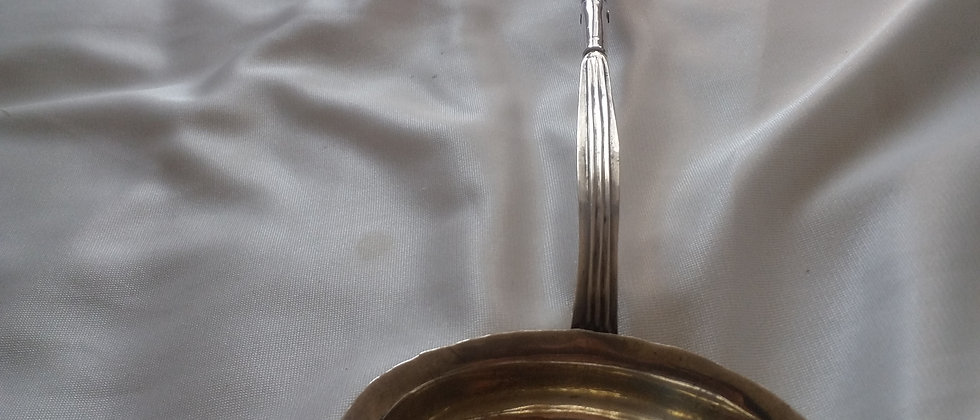 English Silver and Whale Bone Toddy Ladle Serving Spoon circa 1750-1770