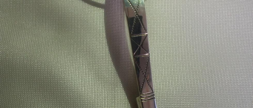 Art Deco Ancient Roman Style Silver Fibula Brooch circa 1940