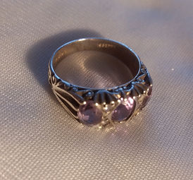 Edwardian Silver Ring - Antiques Dealer in London, UK | Antiques Store in London