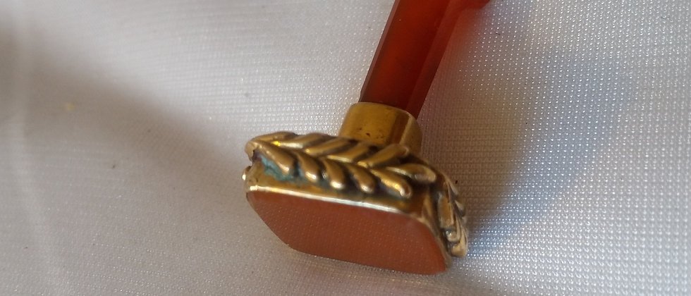 Victorian 15ct Gold Cornelian Desk Seal