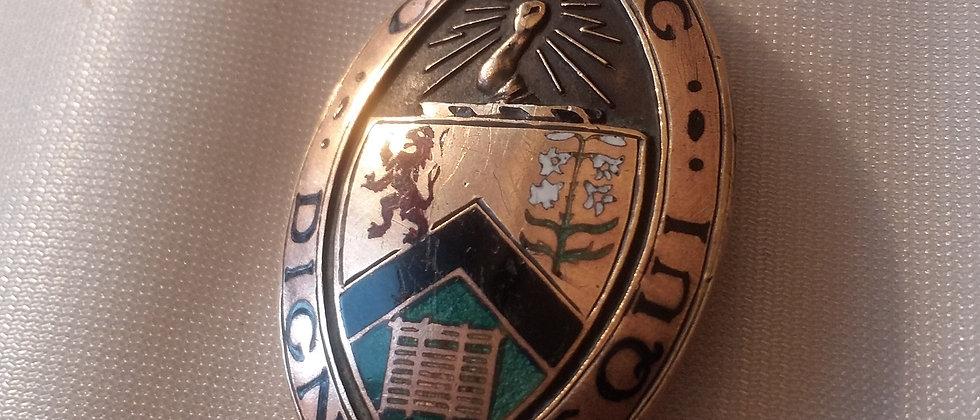 Masonic Brass Enamel Badge Brooch Circa 1910