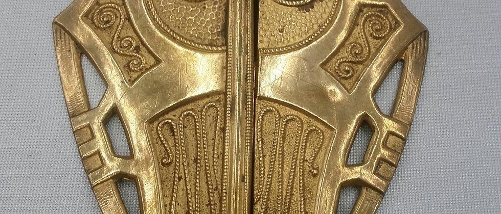 Art Nouveau / Arts And Crafts Movement Brass Belt Buckle circa 1895