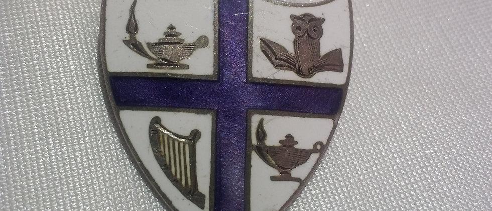 English Silver Coat of Arms Badge circa 1910