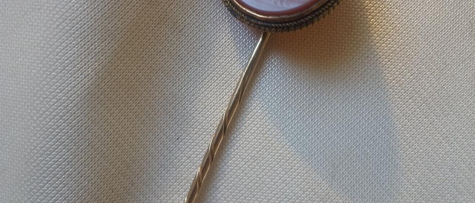 English Masonic Intaglio Stick Pin circa 1860